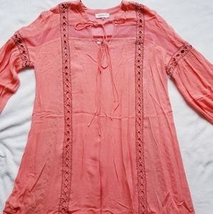 Boho flamingo color Tunic / dress
